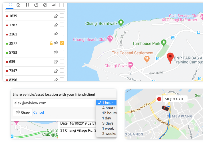 Share vehicle movement with your customers