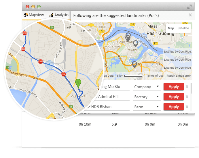 Mark your landmarks as Points of Interests on your GPS tracking map