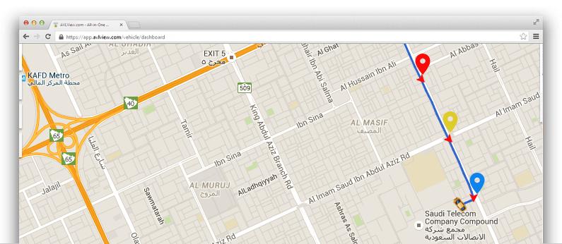 إنشاء معالم كنقاط الاهتمام الخاصة بك على خريطة تتبع المركبات الخاصة بك