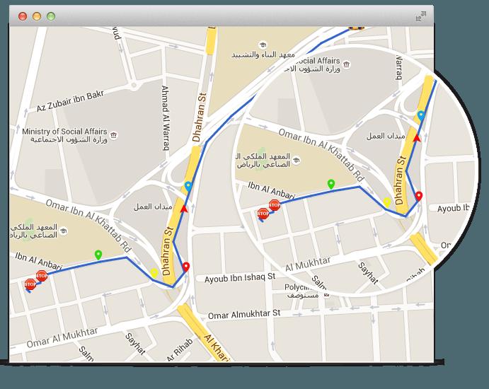 تتبع المركبات جي بي اس على خرائط جوجل