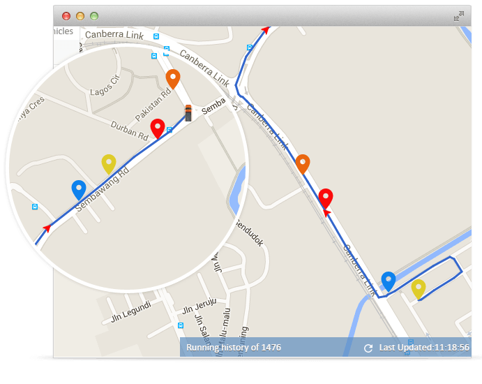 GPS vehicle tracking on Google Maps