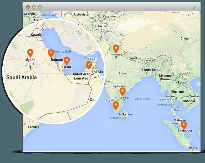 تتبع المركبات جي بي اس من AVLView الآن متوفر في السعودية، قطر، البحرين، سنغافوره، موريشيوس، الإمارات، كينيا والهند