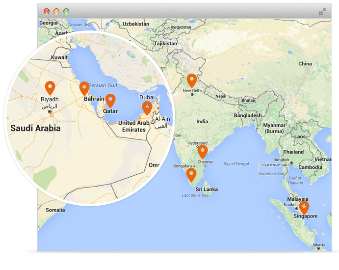 AVLView GPS vehicle tracking now available in India, Singapore, Mauritius, Saudi Arabia, Kenya, Qatar & United Arab Emirates