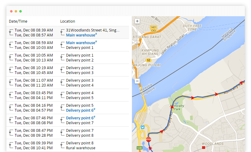 GPS vehicle tracking reports in the form of Pdf and xls