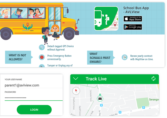 School Bus Tracking System app