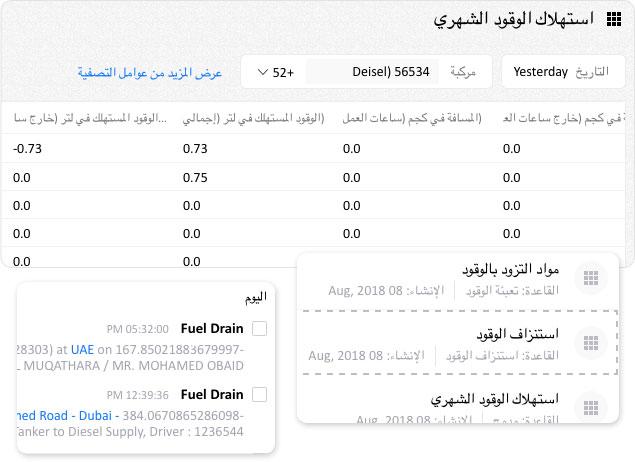 Fuel consumption reports
