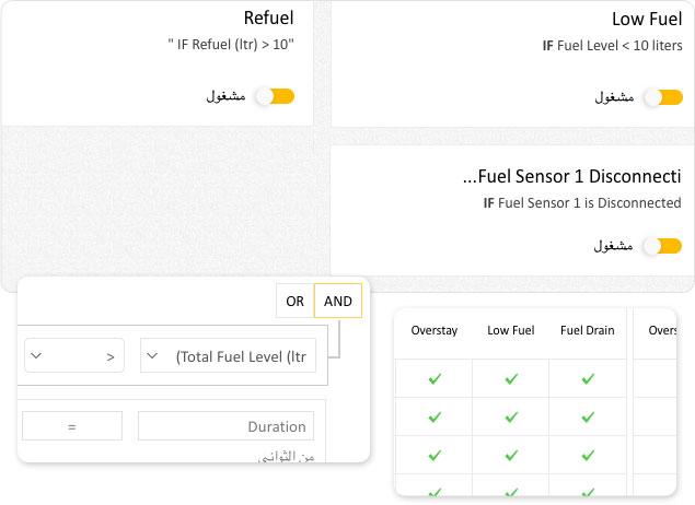 Vehicle low fuel level alert