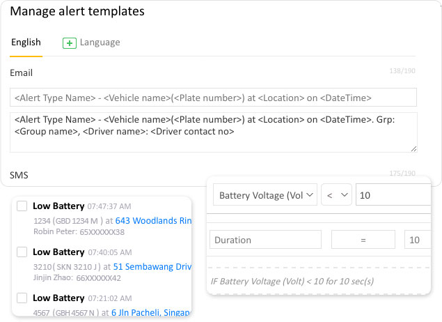 Vehicle battery-low oltage alert