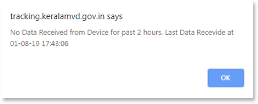 No data received from device for past 2 hours