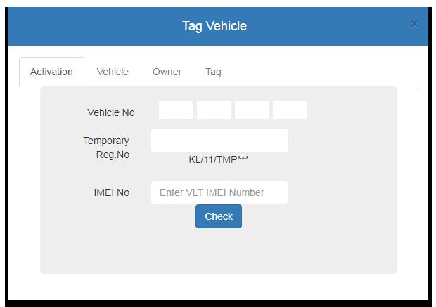 Parivahan Tag Vehicle form