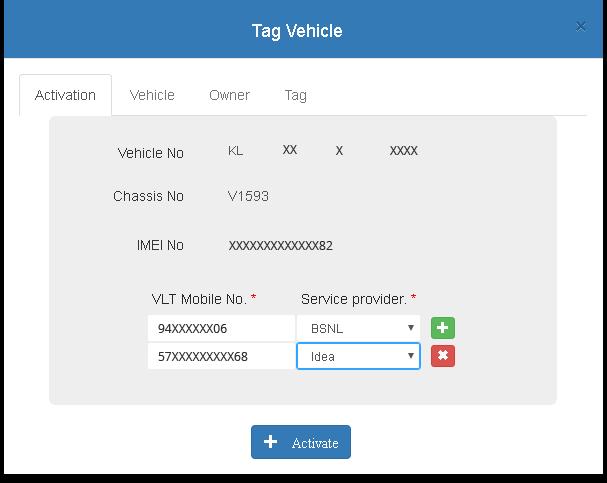 Suraksha Mitr Tag Vehicle form