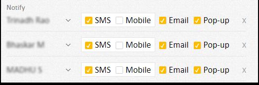 AVLView Notification settings