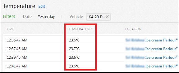 AVLView Temperature reports