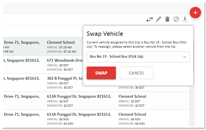 Swap Vehicle