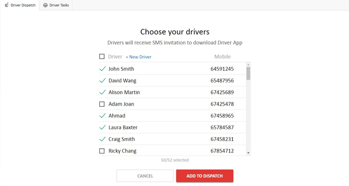 Driver dispatch system with driver app for Android mobiles