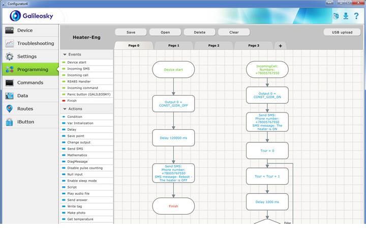 تكوين أجهزة تتبع جي بي اس من جاليليو سكاي -  إيسي لوجيك